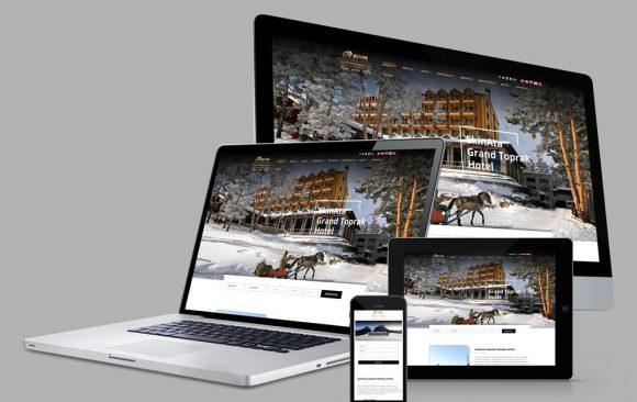 Ekinata Grand Toprak Hotel Web Tasarımı