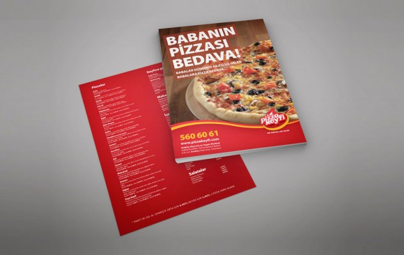 Pizza Keyfi Broşür Tasarımı